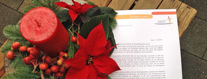 Weihnachtsbrief der Bürgerstiftung Rheinviertel © privat